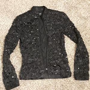 """MSK"" Satin Sequin Jacket"